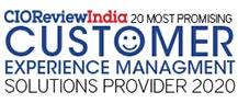 20 Most Promising CEM Solution Provider - 2020